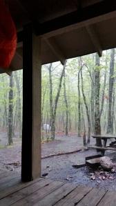 Rainy day, AT shelter